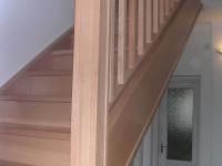 Bükk lépcső korláttal