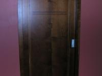 Intarziás cseresznye ajtó
